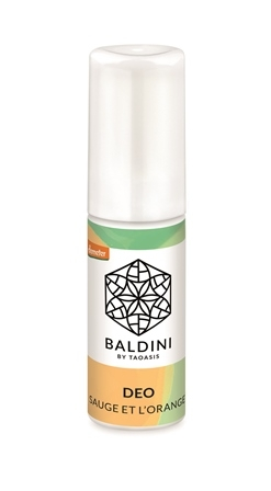 Dezodorant mini Bio - Sauge et l'Orange - 10 ml, Baldini
